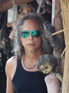 Metallica - Mexico Kirk Hammett en la Isla de las muñecas, Xochimilco !!!