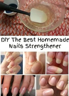 If you have thin and brittle nails, or you have problems with chewing your nails, it's time to use a natural homemade nails strengthener! DIY Nail Strengthening Serum The Reason You Should Rub Your Nails With Baking Soda Thin Nails, Strong Nails, Split Nails, Nails After Acrylics, Acrylic Nails, Nagel Hacks, Nail Soak, Brittle Nails, Nail Growth
