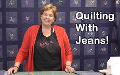Quilt Using Old Jeans - Denim Quilting!  Missouri Star...thanks Mark!!