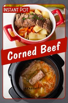 If you like beef, you should try out this pressure cooker corned beef recipe! Easy and tasty main dish for dinner!    I serve it with cabbage, potatoes, turnips and carrots. You can add Jasmine rice as well for a complete meal.