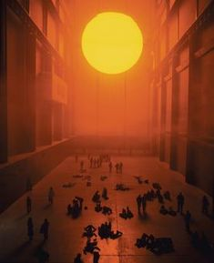 The weather project by Studio Olafur Eliasson. Tate Modern, London.