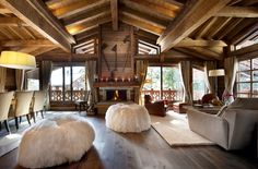 Love the rafters and open floor plan.
