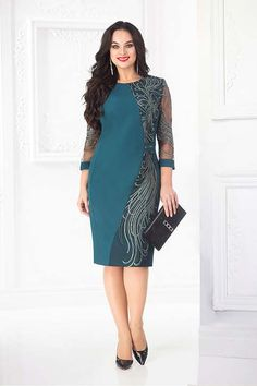 A collection of clothes for obese girls and women . Simple Dresses, Elegant Dresses, Pretty Dresses, Short Dresses, Formal Dresses, Batik Dress, Lace Dress, Dame Chic, Fashion Wear