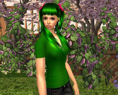 Lowi♥Sims: ★Update★ Abigail Green (special gift for Spring we. Sims 2, More Pictures, Her Hair, Special Gifts, Female, Spring, Green