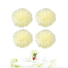 Since 10Pcs of 8 Inch Ivory Tissue Paper FlowersTissue Paper Pom PomsWedding Decor Party DecorPom Pom FlowersTissue Paper Flowers KitPom Poms CraftWedding Pom PomsPom Poms Decoration >>> Click image for more details.Note:It is affiliate link to Amazon.