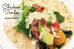 Chicken Tender Salad Wraps Recipe