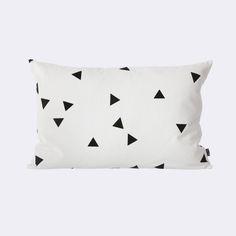 ferm living | black mini triangle cushion