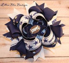 5 Dallas Cowboys Bow by LillianBlueBoutique on Etsy, $10.00