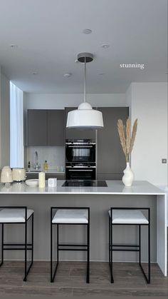 Home Room Design, Dream Home Design, Home Interior Design, Home Decor Kitchen, Kitchen Interior, Kitchen Design, Apartment Interior, Apartment Design, Aesthetic Room Decor