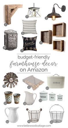 Looking for some budget-friendly decor to freshen up your home? Check out my curated list of farmhouse decor on Amazon. I've found lots of fun accessories and accents for the perfect farmhouse touch!