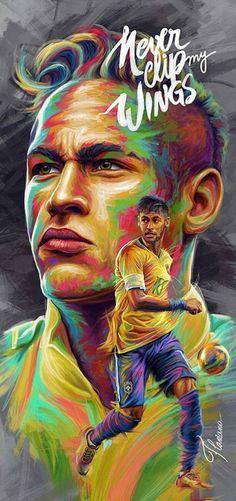 Neymar Football Soccer, Football Players, Neymar Jr Wallpapers, Hey Bro, Sports Art, Fc Barcelona, Deadpool, Passion, Digital Illustration