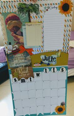 June calendar scrapbook page idea