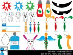Dentist Set Clipart Digital Clip Art Graphics by HaHaHaArt