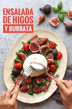 Fruit Recipes, Quick Recipes, Summer Recipes, Healthy Recipes, Fall Recipes, Burrata Salad, Burrata Cheese, Breakfast Recipes, Dinner Recipes