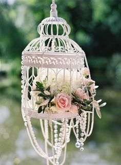 Close-up of birdcage