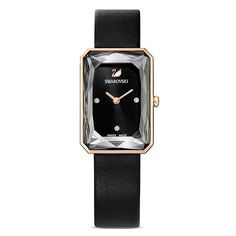 Swarovski, Glas Art, Square Watch, Accessories, Bar, Classic Elegance, Minerals, Bracelet Watch, Crystals
