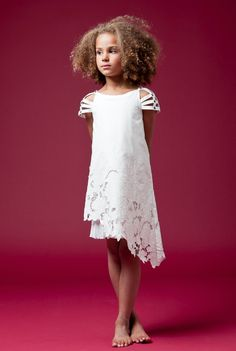 Junior Gaultier beautiful cut lace dress for children's fashion summer 2012