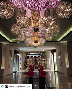 A dazzling welcome to The Portman Ritz-Carlton #Shanghai. #China #Lobby #LuxuryTravel via- @thesusanfreeman by ritzcarlton