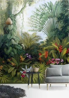 76 Tropical Ideas In 2021 Mural Wall Murals Wall Painting
