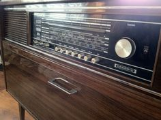 Vintage Mid-Century Grundig Mandello Stereo Radio Console Record Player