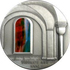 2005 Liberia 2 oz $10 silver coin - Tiffany Art II.