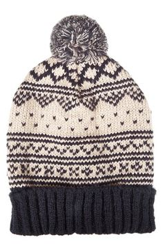 $28, Scandi Fair Isle Beanie by Topshop. Sold by Nordstrom. Click for more info: http://lookastic.com/women/shop_items/94991/redirect