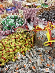 Penny candy barrels at Mast General Store.