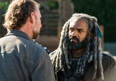 Gavin (Jayson Warner Smith) and Ezekiel (Khary Payton) in Episode 13 Photo by Gene Page/AMC