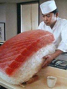 sushi só pra mim!