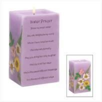 SISTER PRAYER CANDLE - FREE SHIPPING $20.00