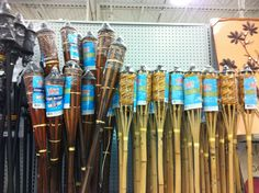 Tiki torches at Meijer