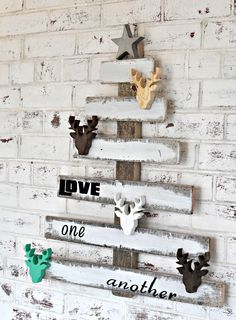 wooden christmas decorations - Google Search