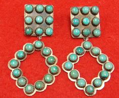 NATIVE AMERICAN EARRINGS DANGLE BISBEE Turquoise. LOVE!!!!