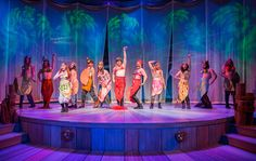 """If a rambunctious group of young, lost boys were asked to stage a play, it would result in the lightning-fast pace and deliciously witty humor that pervades """"Peter and the Starcatcher"""" at the Adrie… Peter And The Starcatcher, Scenic Design, Lost Boys, Design Elements, Musicals, Mermaid, It Cast, Stars, Concert"""