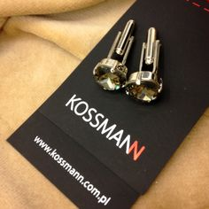 #cufflinks #spinki #bizuteria #akcesoria #dodatki #accessories #kossmann #fashion #swarovski elements