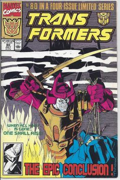Marvel Transformers #80 Comic Book FINAL $60 cover