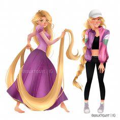 Rapunzel by milkteart
