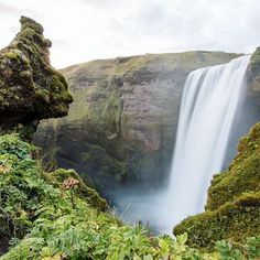 The beautiful Skógafoss waterfall in Iceland. Simply a must see. Arctic Adventures can take you there. Iceland Waterfalls, Arctic, Ocean, Tours, Memories, Adventure, Photo And Video, Outdoor, Beautiful