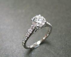 Diamond Engagement Ring / Engagement Ring / by honngaijewelry