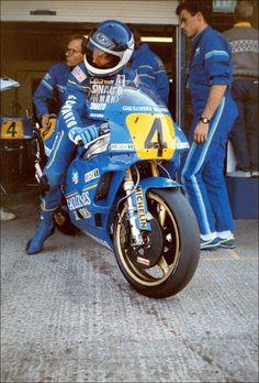 Christian Sarron on the Yamaha 500