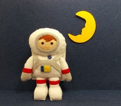 Felt Astronaut And/Or Puppy Hand Stitched by StorybookFelts