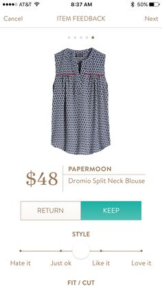 This top looks just like my style. I like the cut and color combination, but am wondering if any other colors/prints are available.
