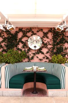 The Cabana Cafe  at the Beverly Hills Hotel , always the loveliest place for poolside breakfast or lunch, and a feast for the eyes as well...