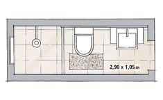 projetos banheiros pequenos medidas - Pesquisa Google