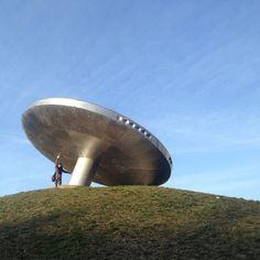 Ufo Vrakuna Ufo, Bratislava Slovakia, Easy Rider, Pentagon, Planets, Architecture, City, Travel, Outdoor
