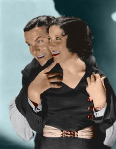 George and Gracie. (Colorized Photo)