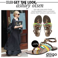 CELEB GET THE LOOK: ASHLEY OLSEN Ashley Olsen, Get The Look, Celebs, Sandals, Summer, Leather, Fashion Design, Collection, Color