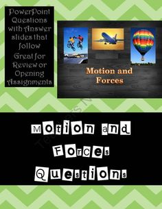 Science - Motion and Forces Questions from Digital Diva on TeachersNotebook.com (51 pages)  - Review Questions on Motions and Forces