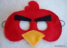 Angry Birds Masks. I like these the best and think they would work well with the plain cardboard ones from oriental