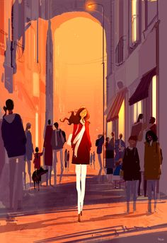 It's in winter, sometime between the afternoon and the evening. #pascalcampionart